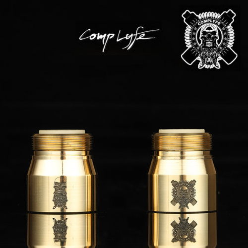[Comp Lyfe] Button Housing 3D Etched Brass [正規品]